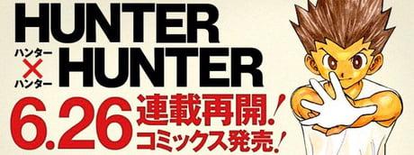Hunter x Hunter Shonen Manga coming back on June 26!!!