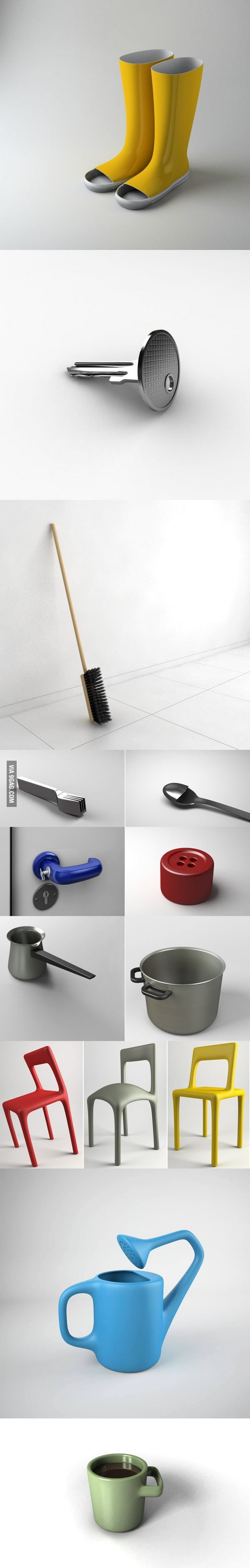 """Who needs conformist functional design when you have these? (""""The Uncomfortable"""" project by Katerina Kamprani)"""