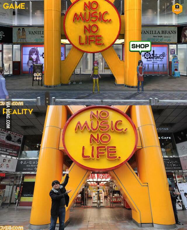 Digimon cyber sleuth map based of actual places in Japan can