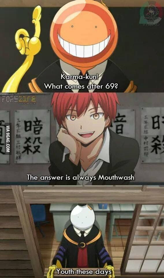 Dirty Mind Dirty Minds Everywhere Assassination Classroom - 9Gag-5763