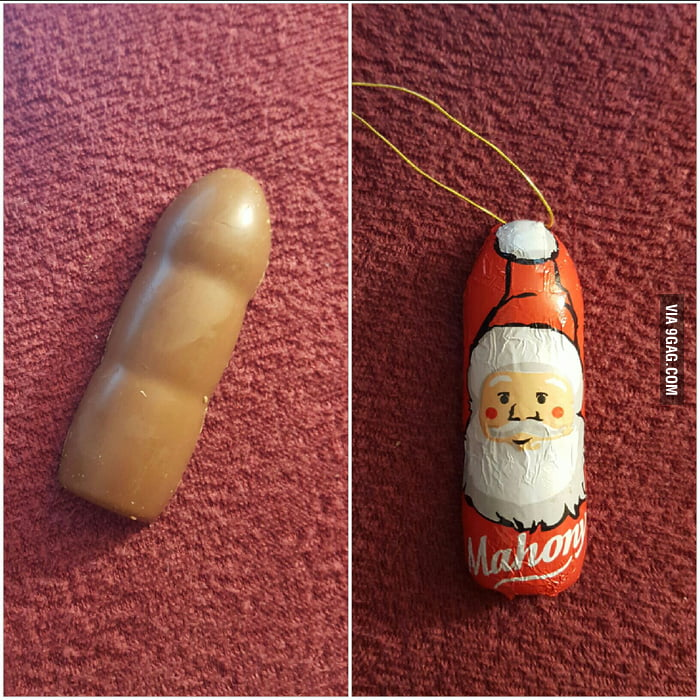 Image result for chocolate santa looks like dick