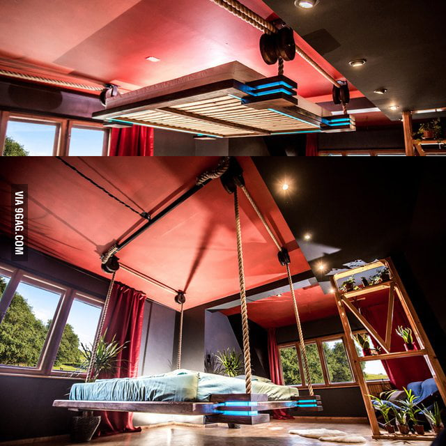 Modern Hanging Bed So Much Space For Activities 9gag