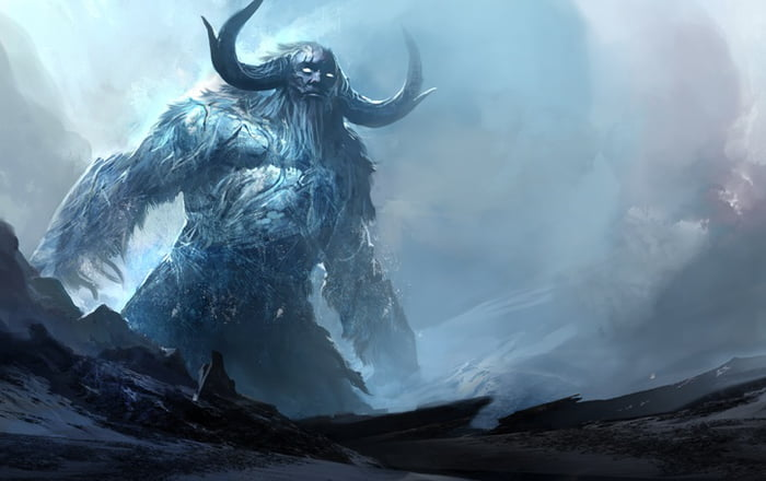 Ymir the first Giant whose body formed Midgard human land
