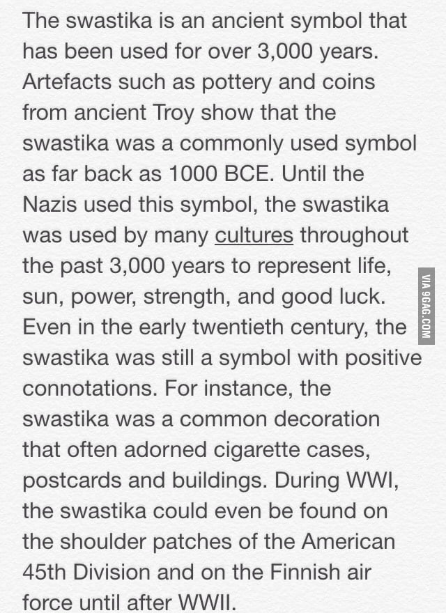 The Real Meaning Of The Nazi Swastik Symbol 9gag