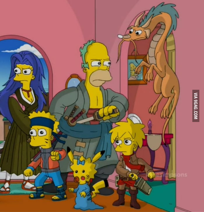 Lovely Simpsons Treehouse Of Horror Xxv Part - 8: Anime Version Of The Simpsons (Treehouse Of Horror XXV)
