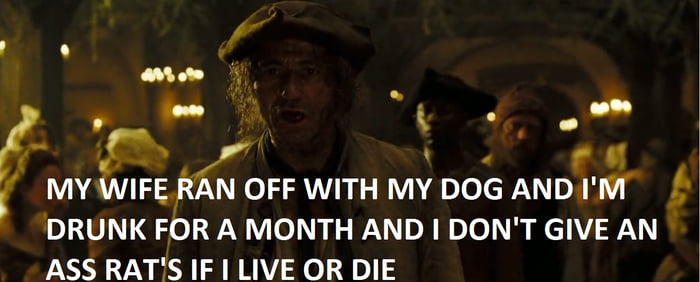 pirates of the caribbean has the most poetic lines in all movie