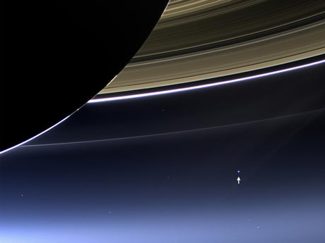 Ever wonder what Earth looks like from Saturn?