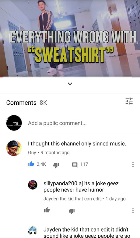 This comment is more savage than the video