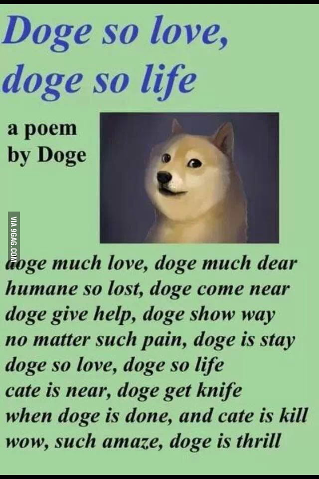 A Poem About The Mighty Doge So Love Life