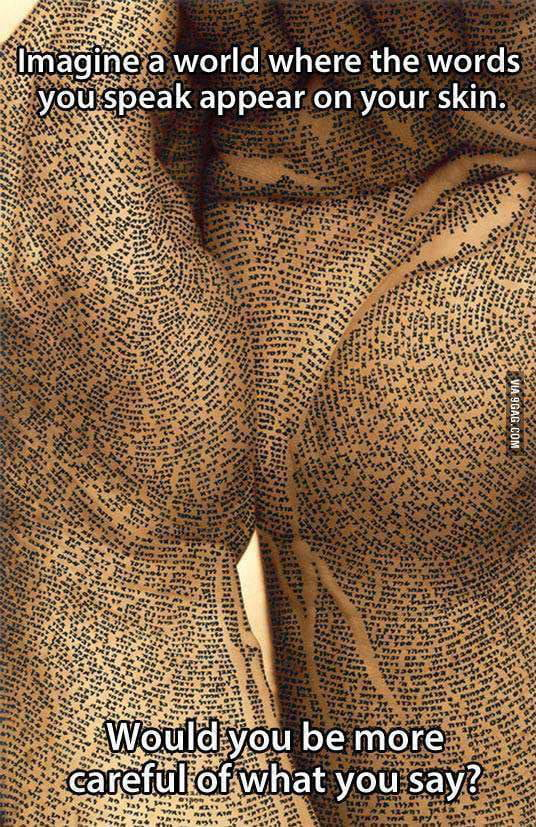 Imagine a world where the words you speak appear on your skin...