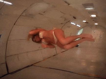 Kate Upton in zero gravity