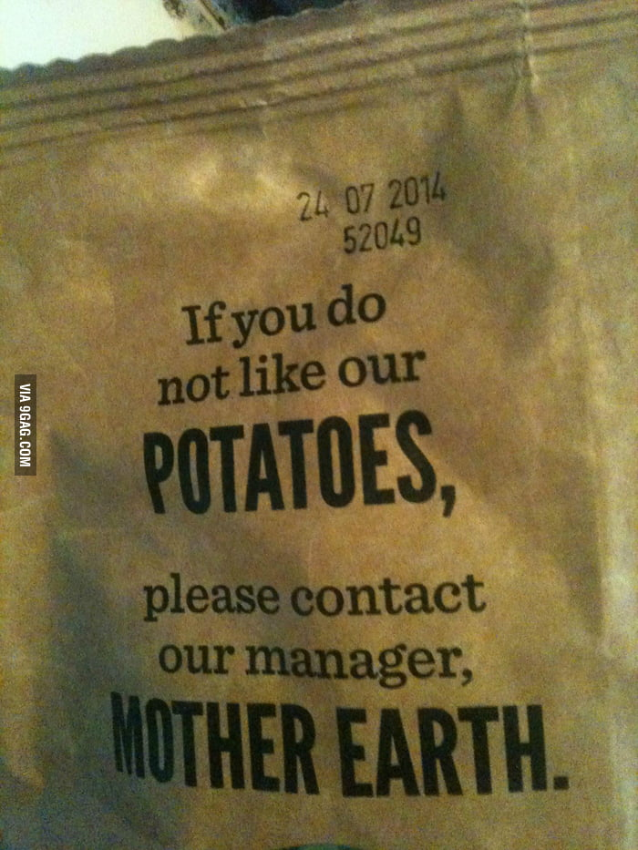 This Bag Of Chips Is Being A Real Eco Douche 9gag