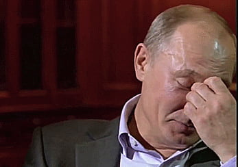 "Putin's reaction when Obama said Russia would face ""costs"" if it intervenes in Ukraine"