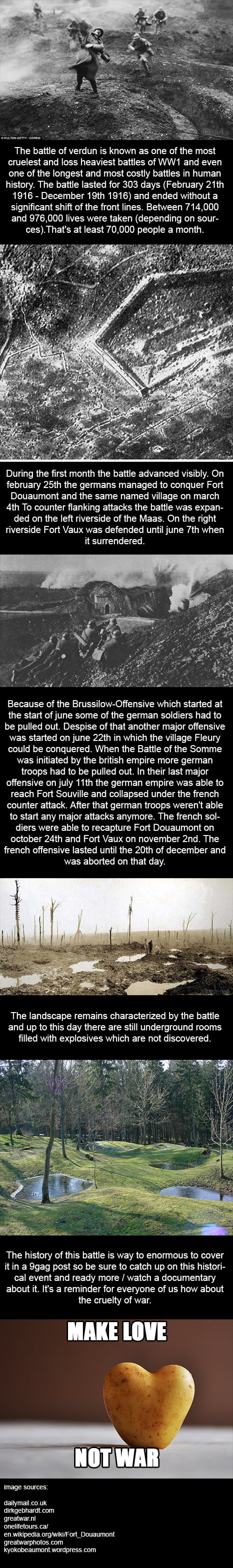 The Battle of Verdun (1916) - a short summary of history