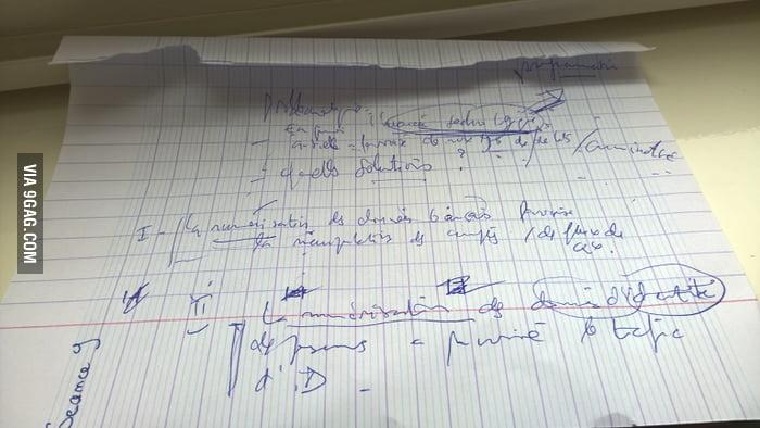 My Economy Teacher Have The Worst Handwriting Ever
