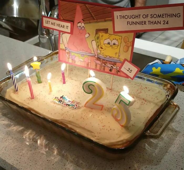Turned 25 And Got A Classic Spongebob Cake