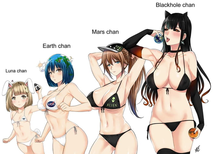 Black Hole-chan and Planets. - 9GAG