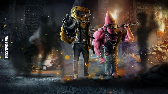 gangster spongebob patrick 9gag