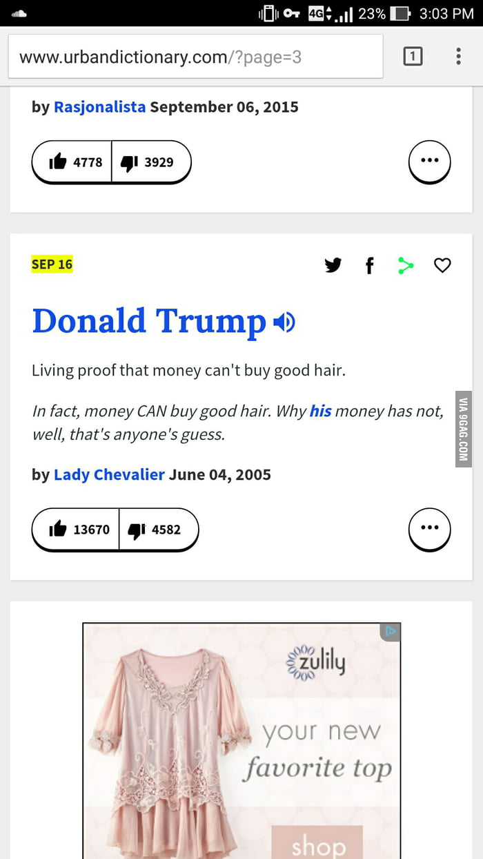 Went to urban dictionary to check meaning of fyiwasnt disappointed
