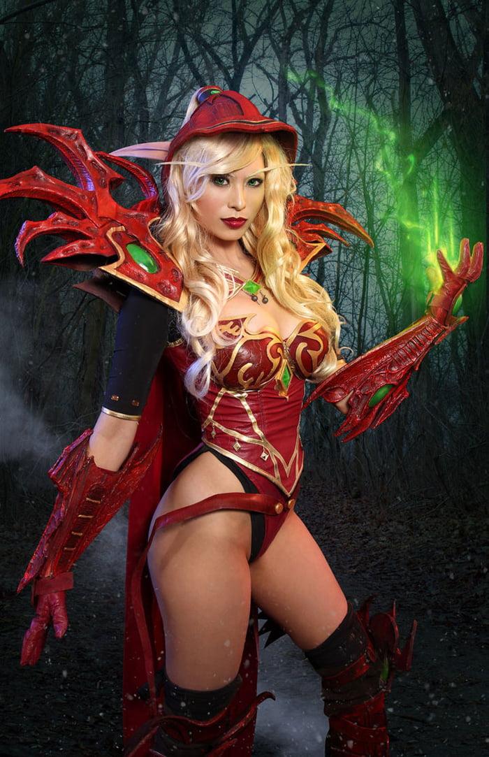 elf cosplay blood nude Female