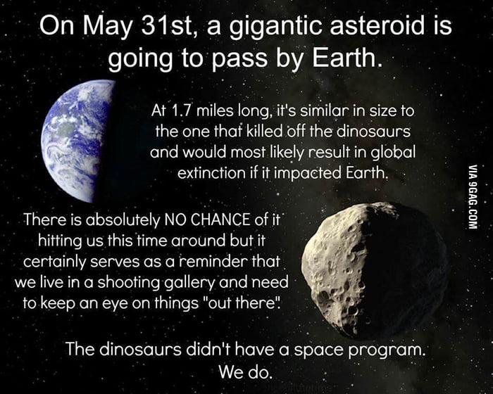 Good guy giant asteroid