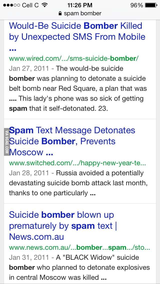 Googled Email Spam Bomber Not Quite What I Was Expecting 9gag