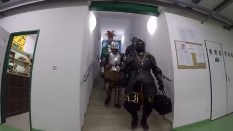 Knights in the gym.