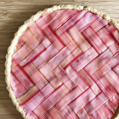 Herringbone Lattice Rhubarb Strawberry Tart