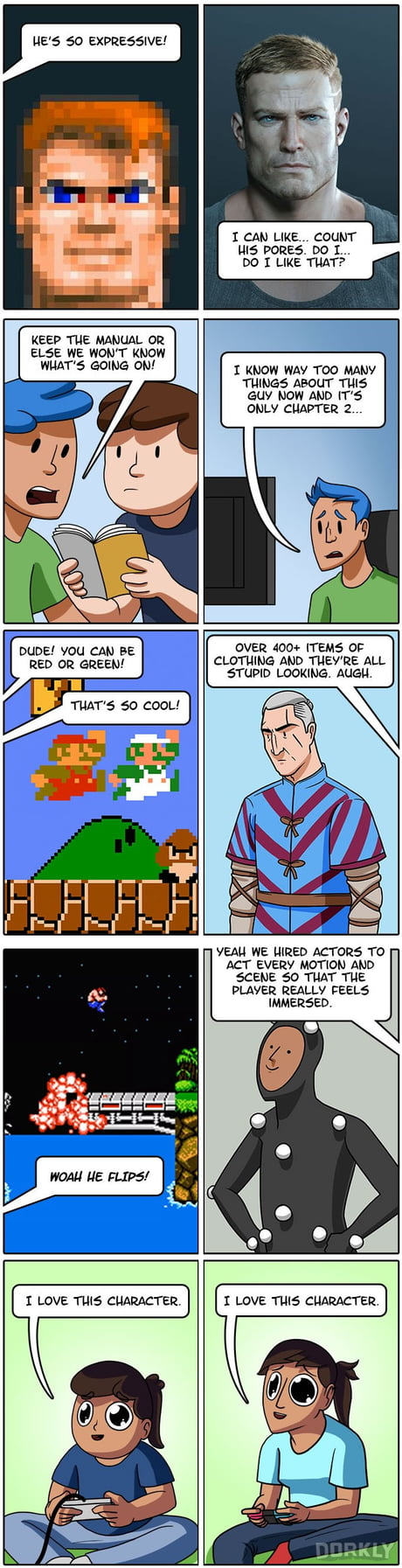 Videogame Protagonists Then VS Now