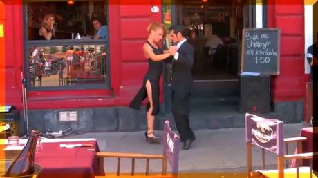 Impressive street dancing