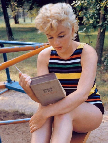 Eve Arnolds 1955 Photo Of Marilyn >> Marilyn Monroe Reading James Joyce S Ulysses Photo By Eve Arnold