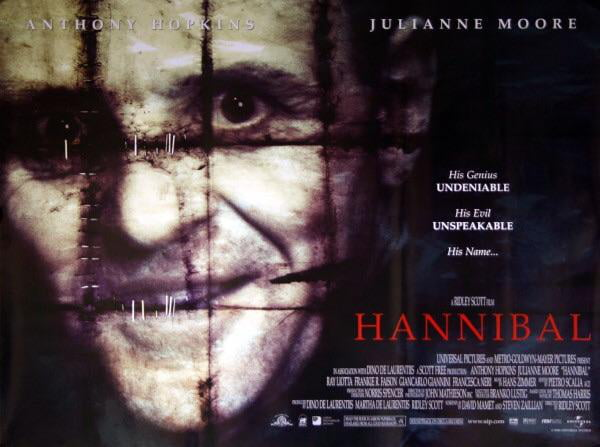 This Poster For Hannibal 2001 Was Recalled And Banned By Advertising Standards Agencies For Apparently Being Too Disturbing For Audiences What Do You Think About This Was This Recall Justified 9gag