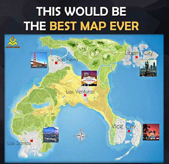 Imagine GTA VI with this map. - 9GAG