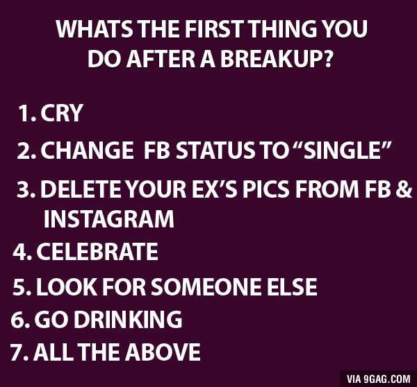 What to do after you break up