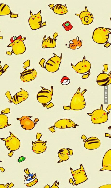 Here You Go Pikachu Phone Wallpaper Youre Welcome 9gag