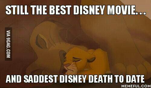 Favorite Disney movie, saddest character death to date - 9GAG