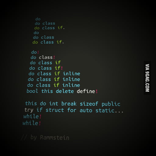 If Rammstein did code