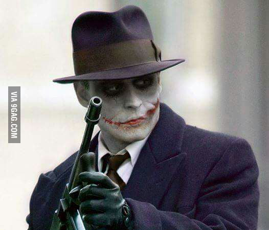 How Johnny Depp would look in Joker make-up - 9GAG