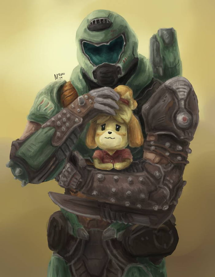 Doomguy And Isabelle By Moistart 9gag