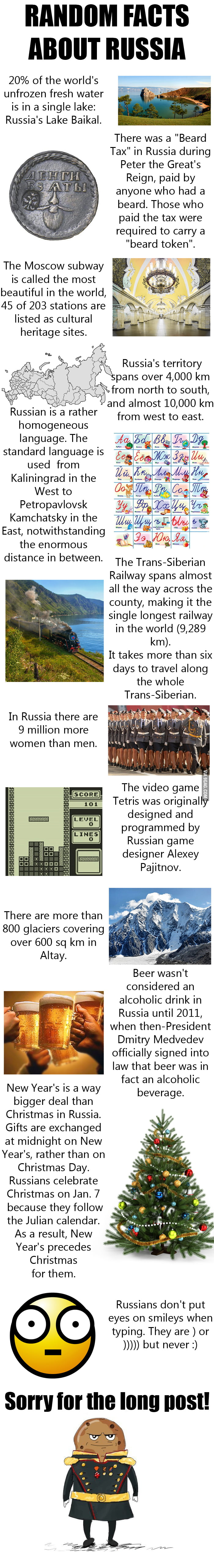 12 interesting facts about Russia - 9GAG