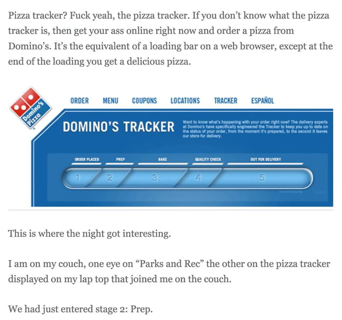 Domino S Pizza Tracker Saved Guy From His Psychotic Ex S Knife