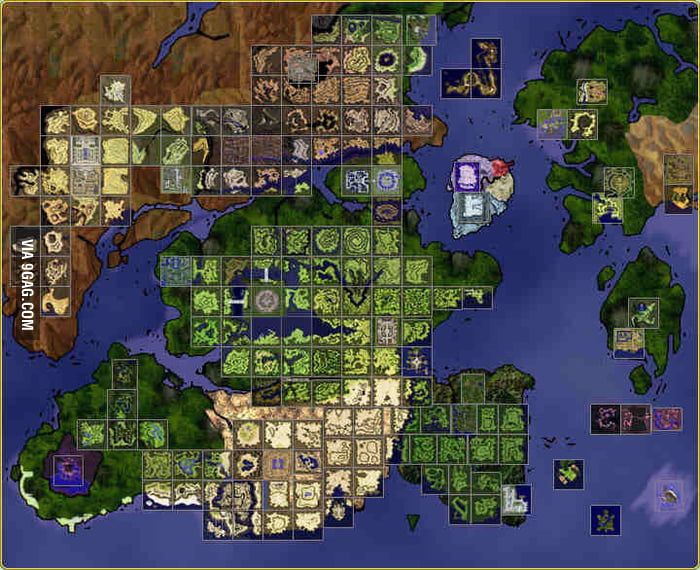 To the guy who posted the pokemon world map, I raise you the map of ...