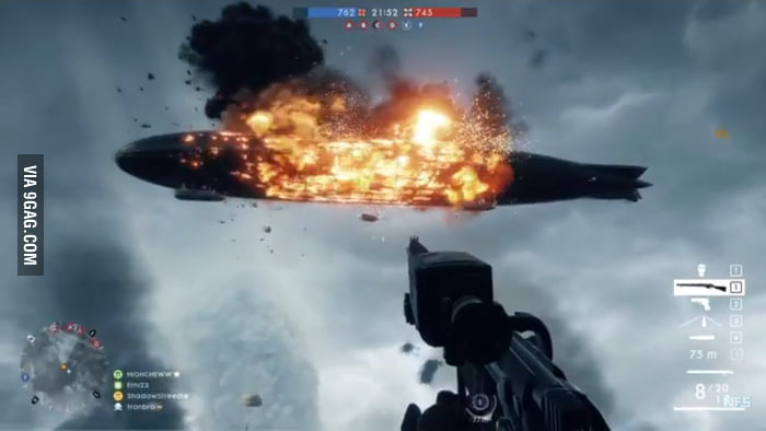 So beautiful    (BattleField 1 Behemoth Blimp) - 9GAG