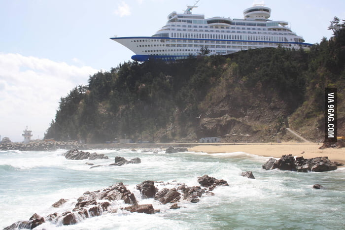 Ship shaped hotel in south korea