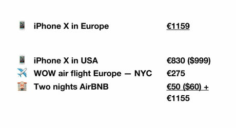 Buying iPhone X in europe? why not add a free weekend trip to NYC?