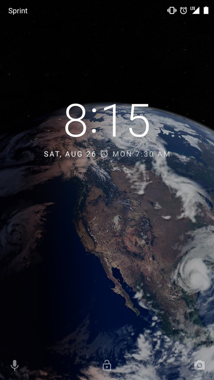 My Phone Has A Live Wallpaper Showing The Earth With The Current