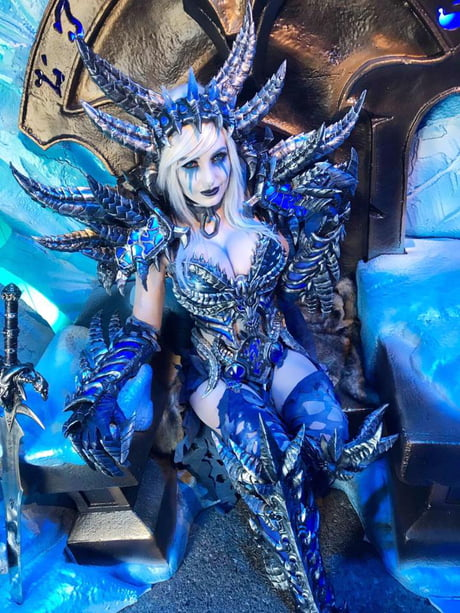 Saw this Sindragosa cosplay at the Blizzard boot of the San Diego Comic Con convention today. Apparently the costume is self-made.