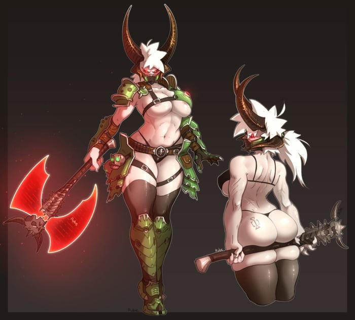 doom eternal female marauder art