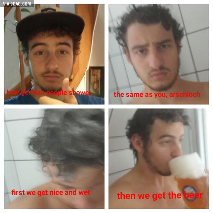 How German People shower... - 9GAG