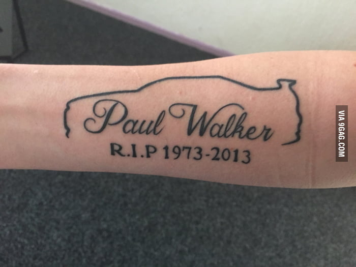 paul walker tribute tattoo with skyline r34 no i dont